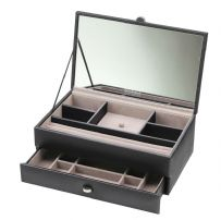 Dulwich Designs 70948 Boutique Medium Black Contempory Jewellery Box